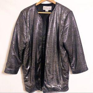 Vintage Rothschild Black Silver Puffer Coat